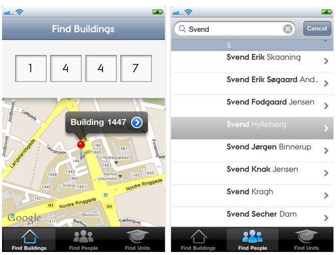 find bygning au