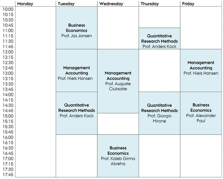 how to make a study timetable for university